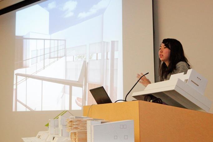 CGや模型を使って、さらに詳しく解説します。田中 知可子さん(1年)岡山県 岡山南高等学校出身