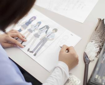 神戸電子専門学校デジタルアニメ学科のキャラクターを描く授業