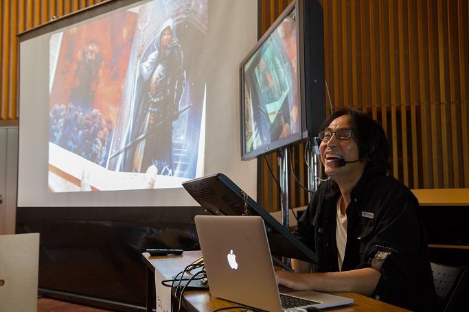 【半期分を一挙公開!デザイン業界セミナーレポート】人気イラストレーター有田満弘氏とワコム社のコラボ ライブペイントセミナーを開催。